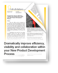Dramatically Improve Efficiency, Visibility and Collaboration Within Your New Product Development Process