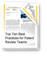 Top Ten Best Practices for Patent Review Teams