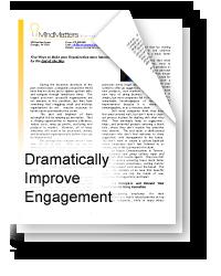 Dramatically Improve Employee Engagement